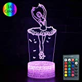 princess bedroom ideas YOUNSH Ballet Lamp, Girls Night Light Bedside Lamp 16 Color Changing with Smart Touch & Remote Control for Kids Lamps Princess Bedroom Decor as Birthday Gifts Idea for Girls