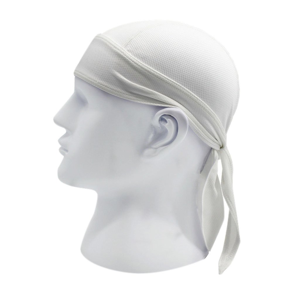 Chen Motorcycle Biker Windproof Cycling Skull Cap Hat Sweatband Protex Outdoor Head Wraps (White)
