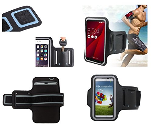 DFV mobile - Armband Professional Cover Neoprene Waterproof Wraparound Sport with Buckle for => PHILIPS W6500 > Black