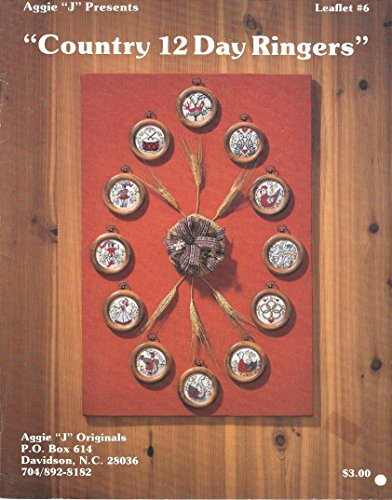 Country 12 Day Ringers 12 Days of Christmas Cross Stitch Cha