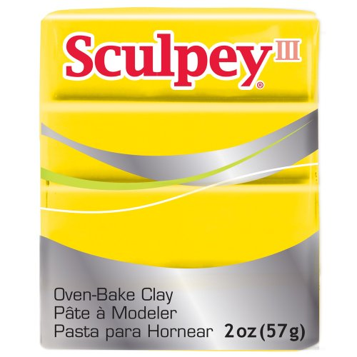 (Sculpey S302 072, III Polymer Clay 2 Ounces-Yellow)