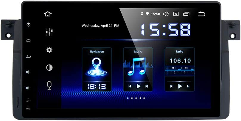 Dasaita 9 Android 10.0 Bluetooth Car Stereo for BMW E46 M3 2002 2003 2004 2005 2006 Head Unit with 4G RAM// 64G ROM Car Radio Touch Screen GPS Navigation Dash Kit Built in DSP 15Band EQ