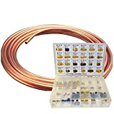 Brake Line Coil and Fitting Assortment Kit, 3/16'' x 25'
