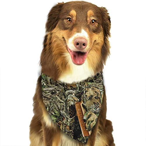 TLDRZD Hunting Camo Forest Hide Party Dog Bandana - Small Medium and Large Bandanas for Every Occasion Or Holiday - Easy to Tie On Your Cats Or Dogs - Comfortable and Stylish Pet Accessories ()