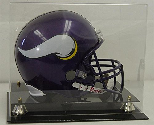 Deluxe Acrylic Football Helmet Clear Display Case with ALL 4 sides visible ()