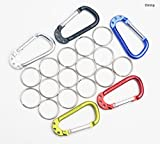 Aluminum Carabiner with Multifunction Clip Hook