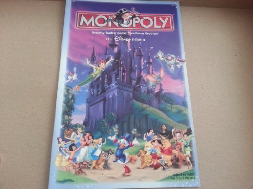 Parker Brothers Monopoly Rules - Read Description Carefully (Replacement Parts) for 2001 Disney Edition Monopoly By Hasbro / Parker Brothers [Game Rules Only]