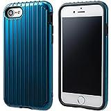 """GRAMAS COLORS """"Rib"""" Hybrid case CHC436 for iPhone 8/7 グラマスカラーズ リブ ハイブリッドケース 耐衝撃ケース ICカード対応(ネイビー)"""