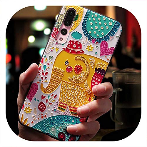 Cute Cartoon Patterned Phone Case for Huawei P20 P10 P9 Lite Pro Cases Ultra-Thin TPU Cover for Honor 8 9 10 Lite Mate 10,Elephant,for Honor 9 lite