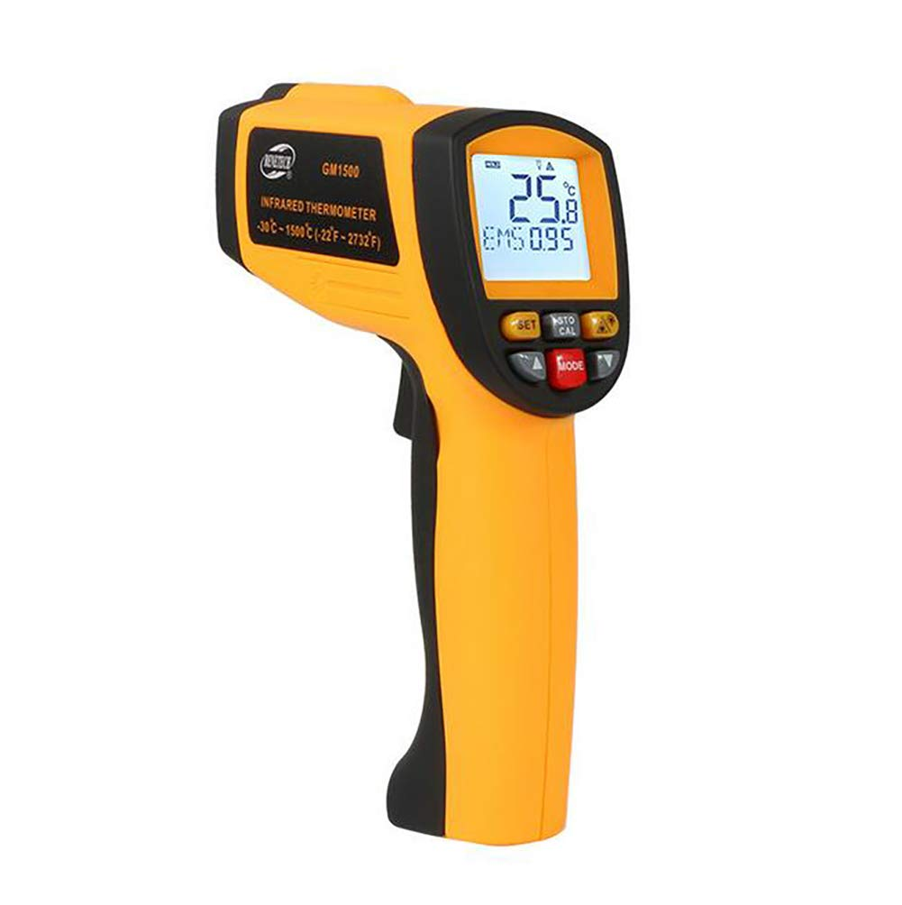 D&F Infrared Thermometer,High/Low Temperature Alarm Setup with LCD Display Non-Contact Digital Laser Infrared,Thermometer Temperature Gun 50:1 High Distance spot Ratio (-30~1500℃-22~2732F)