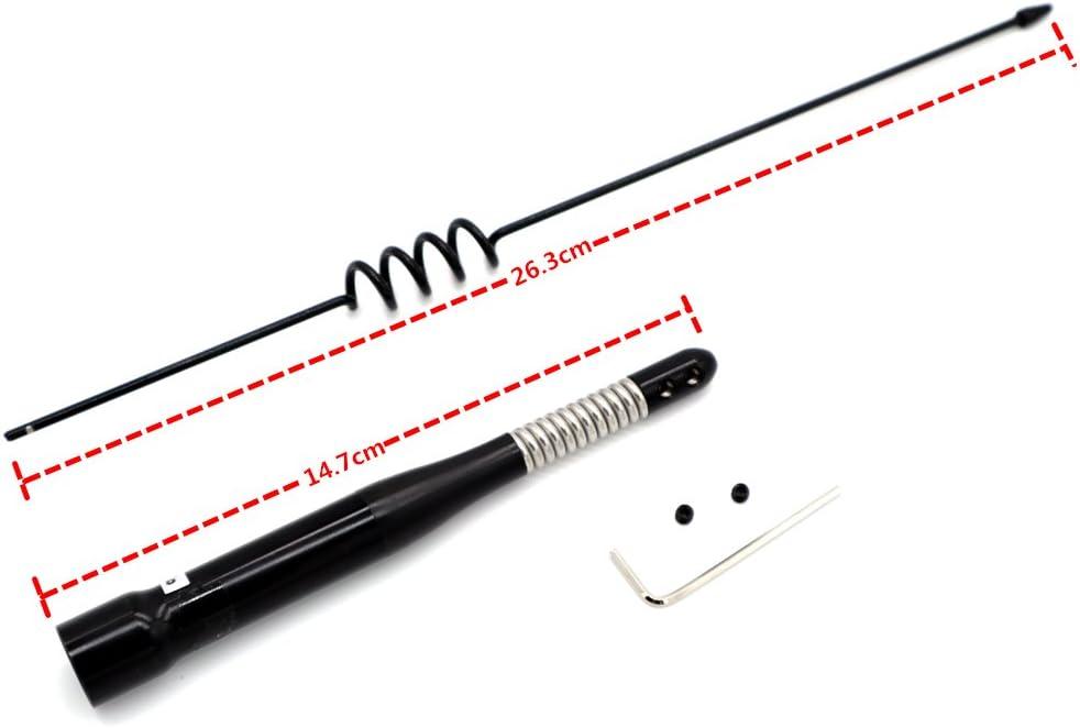 TengKo SP-40H Banda Dual VHF/UHF 144MHz / 430MHz 100W Alta Ganancia Antena de Radio Móvil UHF (M) Tipo (Negro)