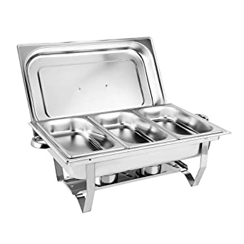 3,5L Chafing Dish Speisenwärmer Edelstahl Warmhaltebehälter Wärmebehälter ofen