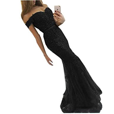 Inmagicdress Mermaid Evening Dresses For Women Formal Off Shoulder