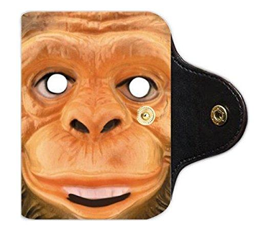 Cartoon monkey mask child mask PU Leather office Business Card Holder PU Leather office Business Card Holder