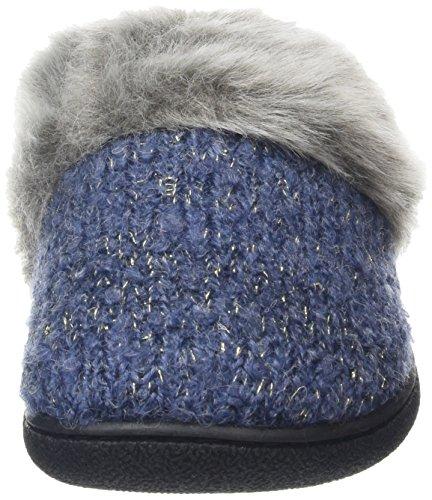 Blue Indigo Clog Knit Low Top Accent Foam Memory Gold Dearfoams with WoMen 00483 Slippers 7RZqPP