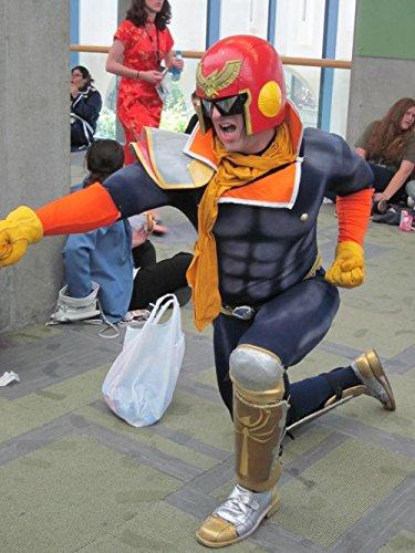 Captain Falcon Costume (LAMINATED 24x32 Poster: Captain Falcon cosplayer at FanimeCon)
