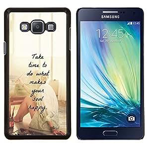 Dragon Case - FOR Samsung Galaxy A7 - happy love motivational artist paint - Caja protectora de pl??stico duro de la cubierta Dise?¡Ào Slim Fit