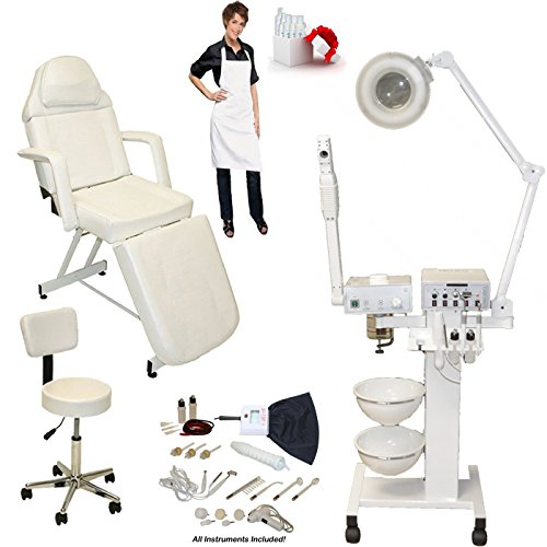 LCL Beauty 9 in 1 Multifunction Facial Machine & Fully Adjustable Bed Chair Package