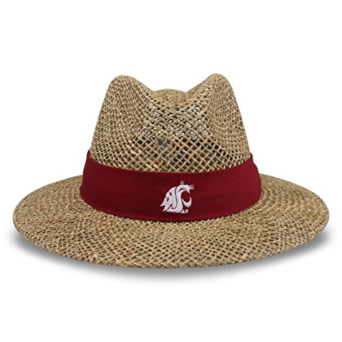 (The Game NCAA Washington State Cougars Straw Safari Hat, One Size, Cardinal)