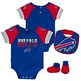 NFL by Outerstuff NFL Buffalo Bills Newborn & Infant 50 Yard Dash Bodysuit, Bib & Bootie Set Royal, 18 Months