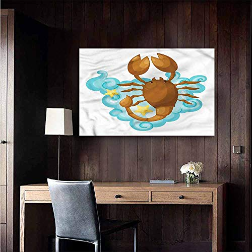 Gabriesl Stickers Wall Murals Decals Removable Zodiac Scorpio Cartoon for Kids Kitchen Room Wall Size : W36 x H24