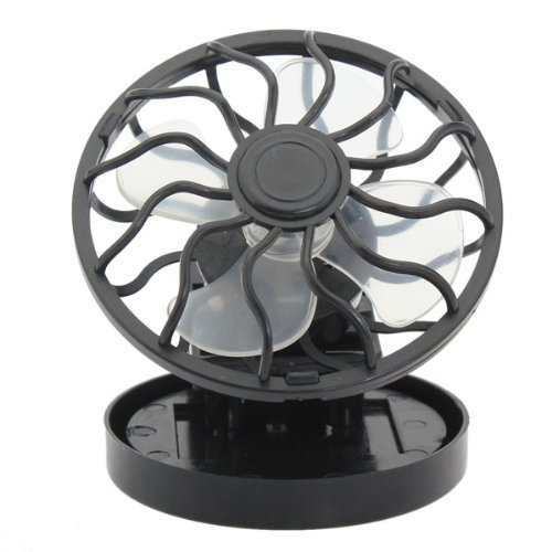 Kisstaker Portable Mini Solar Powered Clip Fan Cooling Fan Hat Cap Fan Energy Saving Travel Summer Camping (Solar Fan Cooling Cap)