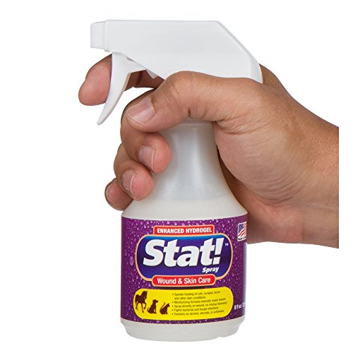 Stat! Spray Wound & Enhanced First-Aid Treatment for Horses, Cuts, Rashes; Soothing Spots, Itching