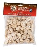 AKC Bone Beefhide Mini Knotted Bones – 35 Pack – (2.5″), My Pet Supplies