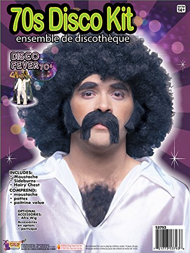 Forum Novelties 70s Disco Costume Facial and Chest Hair  sc 1 st  Amazon.com & Amazon.com: Forum Novelties 70s Disco Costume Facial and Chest Hair ...