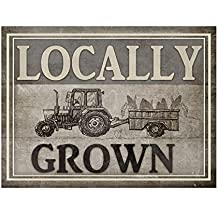 Locally Grown Tractor by Lightboxjournal, 18x24-Inch