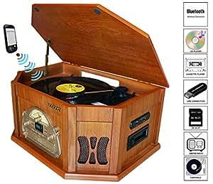 Amazon.com: Boytone BT-25WB 7 en 1 de madera natural ...