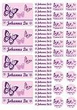 Namensaufkleber Heftaufkleber Etiketten Sticker Stickerbogen Schmetterlinge