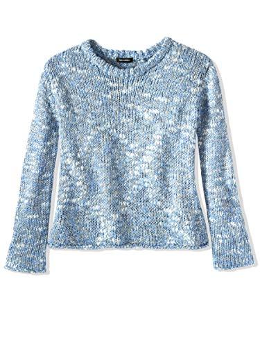 525 America Women's Lurex Slub Knit Crewneck Sweater