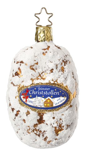 Inge Glas Bakery Delicacy 1-077-13 German Glass Christmas Ornament Gift Box ()