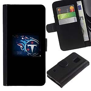 Tennessee Titan NFL - la tarjeta de Crédito Slots PU Funda de cuero Monedero caso cubierta de piel Para Samsung Galaxy S5 V SM-G900