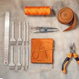 Mudder 8 Pieces Leather Chisel Set 1/2/4/6 Prong