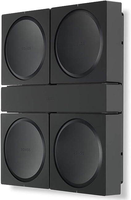 4x Swivel Speaker Wall Mount Bracket SONOS PLAY 5 Gen 2 Steel Cable Management
