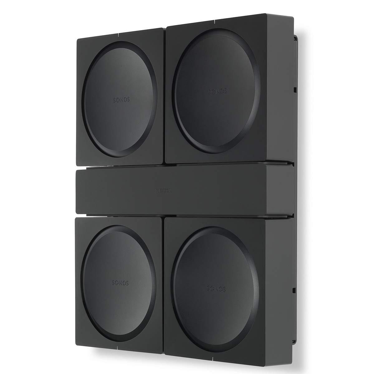 Flexson Wall Mount for 4 Sonos AMPs (Black)