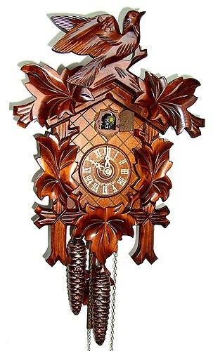 Schneider 12-Inch Five Leaves and One Bird Black Forest 30-Hour Cuckoo Clock by Schneider