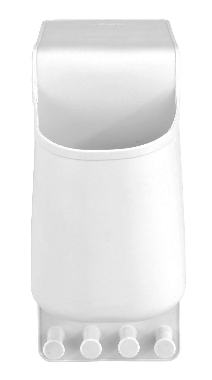 Silikon F/önhalter Befestigen ohne Bohren Wenko 23480100 Haartrocknerhalter Ampio Wei/ß 10 x 36.5 x 10 cm