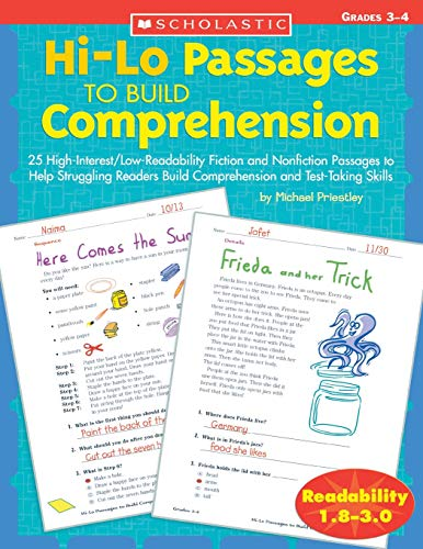 - Hi-Lo Passages To Build Reading Comprehension Skills: Grades 3-4 (Hi-Lo Passages To Build Comprehension)