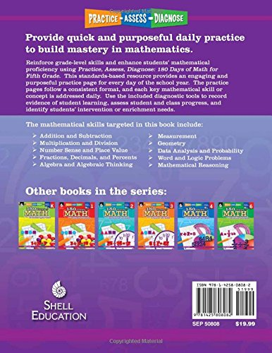 Counting Number worksheets grade 7 math probability worksheets : Amazon.com: 180 Days of Math for Fifth Grade (180 Days of Practice ...