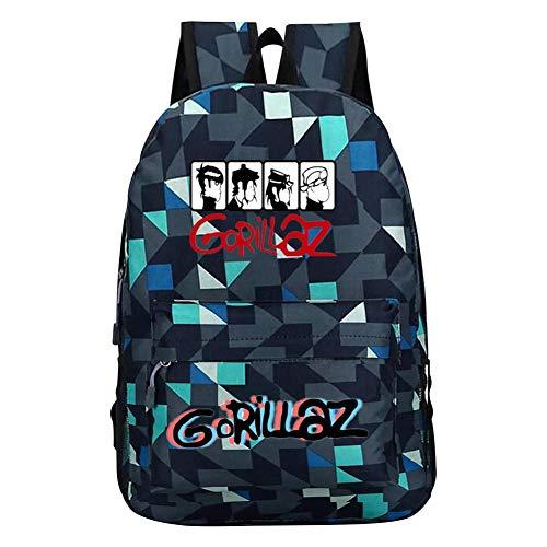 G-orillaz Virtual Band Music Videos Rock Hip Hop Logo Unisex Kids School Bag Backpacks Travel Laptop Backpack Business Computer Backpack Gym Bag for Boys and Girls