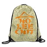 Monsieur Cai Ho Lee Chit Unisex Drawstring Shoulder Bag With Strengthened Grommet