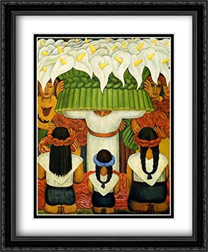 Flower Festival: Feast of Santa Anita, 1931 2X Matted 28x34 Large Black Ornate Framed Art Print by Rivera, Diego