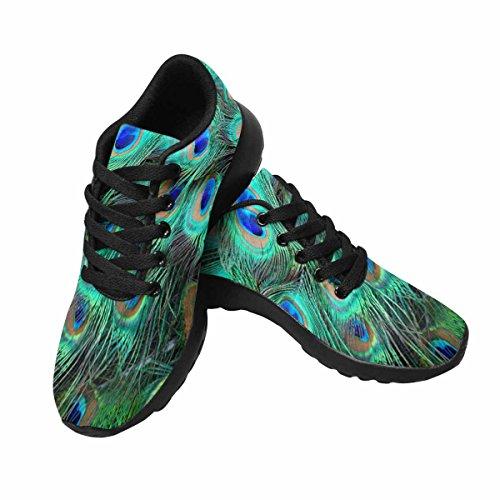 Scarpe Da Trail Running Da Uomo Di Interesse Jogging Leggero Sportivo Da Passeggio Sneaker Sportivo Colorato Piume Di Pavone Multi 1