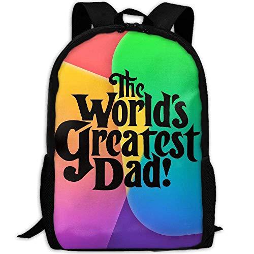 The Worlds Greatest Dad Print Custom Casual School Bag Backpack Multipurpose Travel Daypack