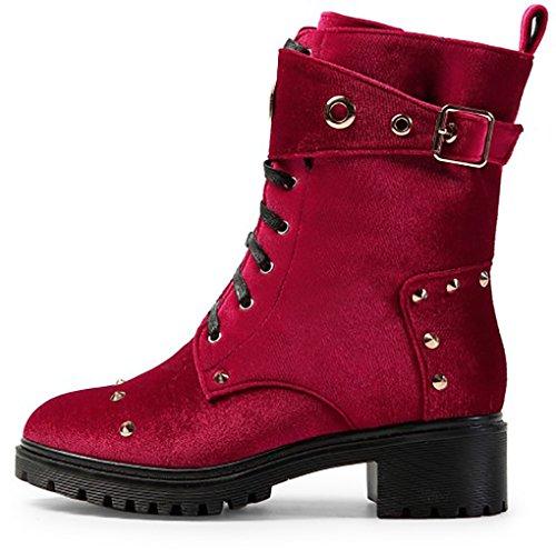 Vetoketju Naiset 5cm Saappaat Abaatv Arraysa 4 Punainen Stiletto d6qaxIaw