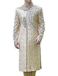 INMONARCH Elegante Boda de marfil Sherwani SH0443