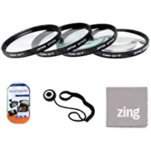 52mm Close-Up Filter Set (+1, +2, +4 and +10 Diopters) Magnificatoin Kit - Metal Rim For Nikon 35mm f/1.8G AF-S DX Lens + Cap Keeper + MicroFiber Cleaning Cloth + LCD Screen Protectors